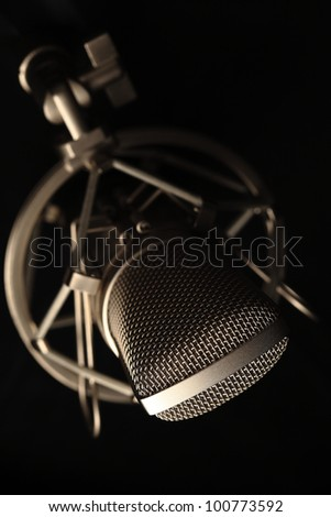 microphone - stock photo