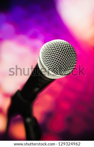 microphone against purple background