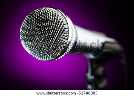 microphone against the purple background