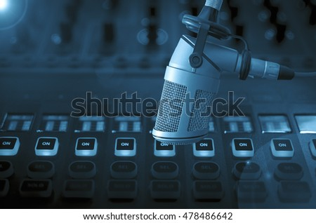 microphone and audio console