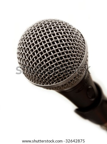 Microphone close-up - stock photo
