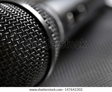 Microphone closeup - stock photo