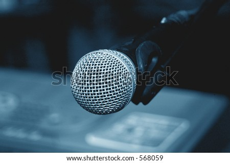 microphone Clouse-up 2 - stock photo