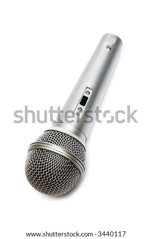 Microphone for a karaoke on a white background