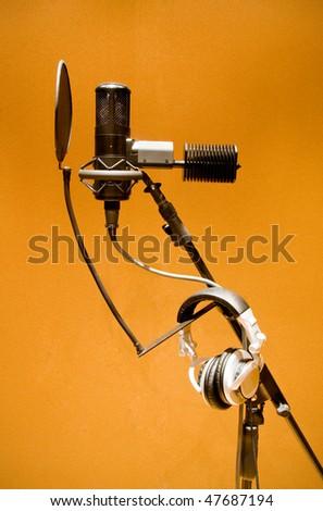 microphone for studio recording - stock photo
