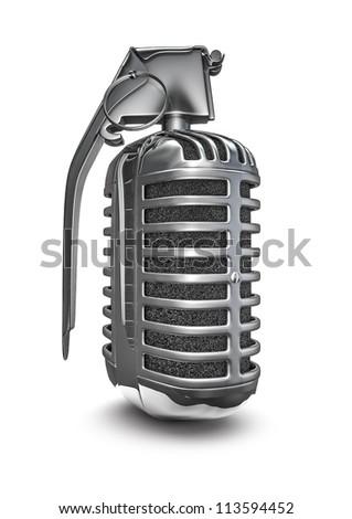 Microphone grenade - stock photo