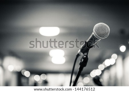 Microphone isolated - stock photo