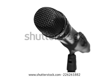 Microphone isolated on a white background. - stock photo