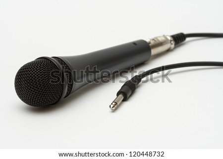 microphone isolated on white - stock photo
