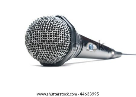 Microphone. Isolated on white background.