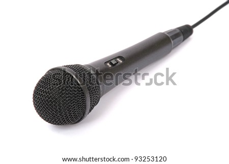 microphone isolated on white background. Shallow DOF. - stock photo
