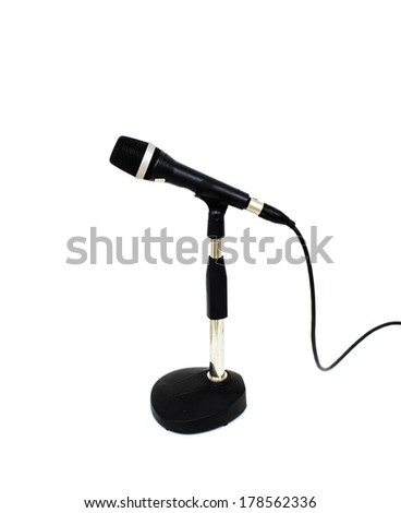 Microphone isolated white background