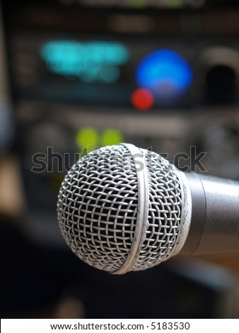Microphone on a background of acoustic system