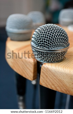 Microphone on a stand - stock photo