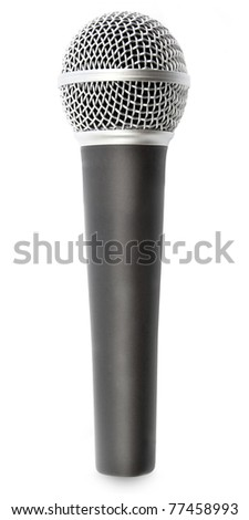microphone on a white background - stock photo