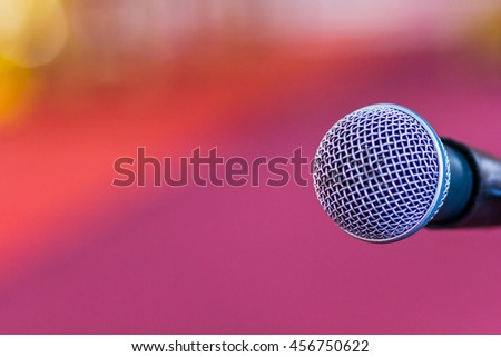 Microphone on background