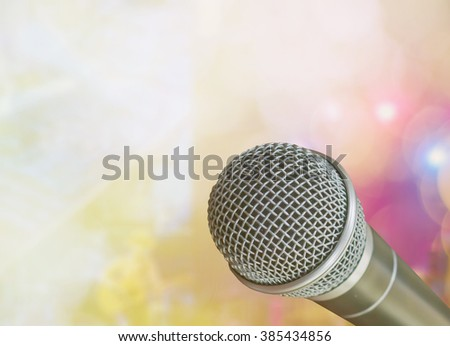 microphone on concert background