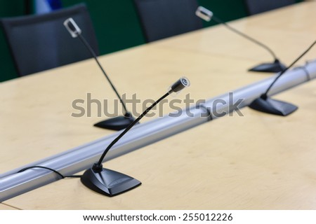 microphone on conference - stock photo