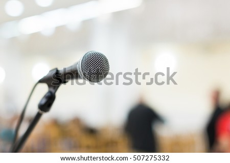 microphone on stage at the live concert
