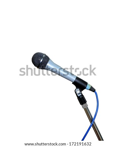 Microphone over White
