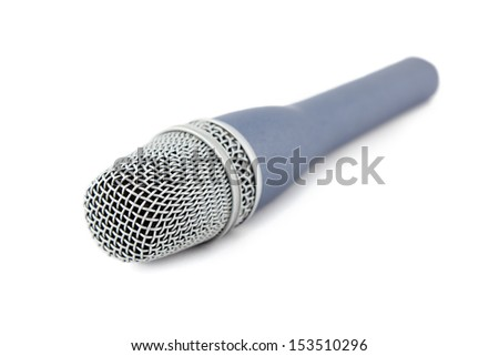 microphone vocals signal sound converter with white background