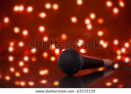 Microphone with colorful stage