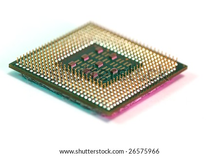 microprocessor computers component of white - stock photo