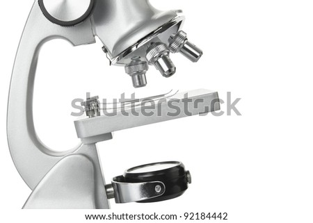 Microscope macro isolated on white, clipping path included - stock photo