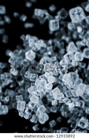 Microscope shot of salt crystals - stock photo