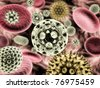 Microscopic world - stock photo