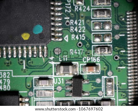 microscopy surface mount printed circuit board stock photo royalty rh shutterstock com Surface Mount D-Rings Surface Mount IC Packages