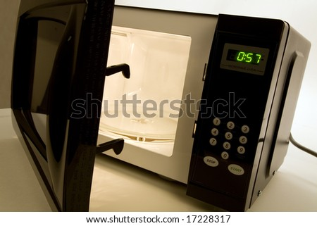 Microwave Oven close up shot - stock photo