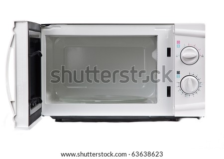 Microwave oven. Isolated on white. - stock photo