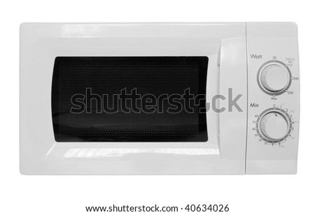 Microwave oven isolated on white background - stock photo