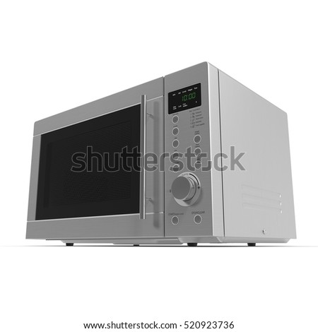 Microwave oven on a white. 3D illustration