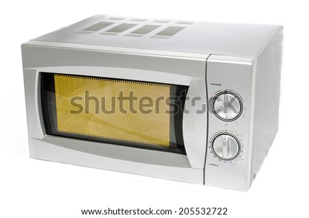 Microwave oven or microwaves - stock photo