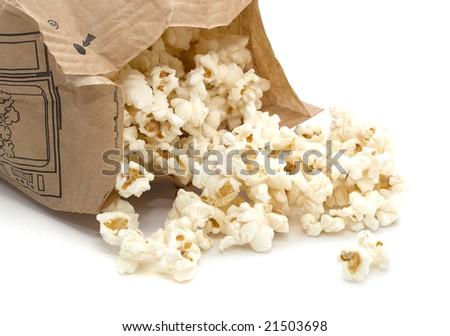 Microwave popcorn - stock photo