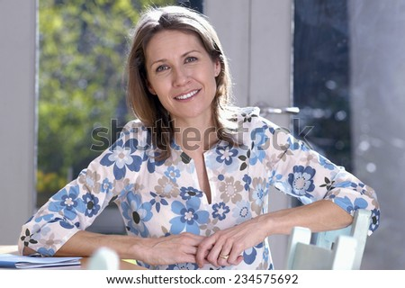Mid-Adult Woman - stock photo
