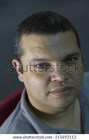 Middle age man portrait - stock photo