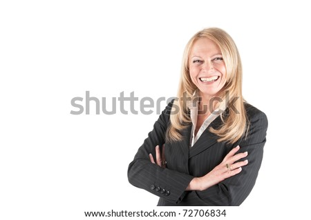 Middle aged Business woman on isolated background
