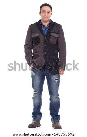 Middle aged caucasian man - stock photo