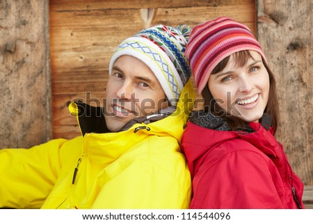 Middle Aged Couple Dressed For Cold Weather - stock photo