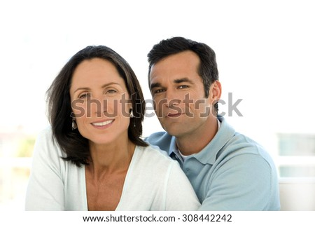 Middle-aged couple in love - stock photo