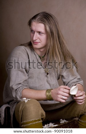 Middle aged craftsman - stock photo