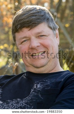 Middle-aged man. - stock photo