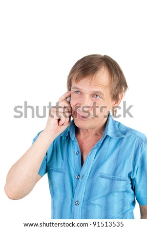 middle aged man with the mobile phone