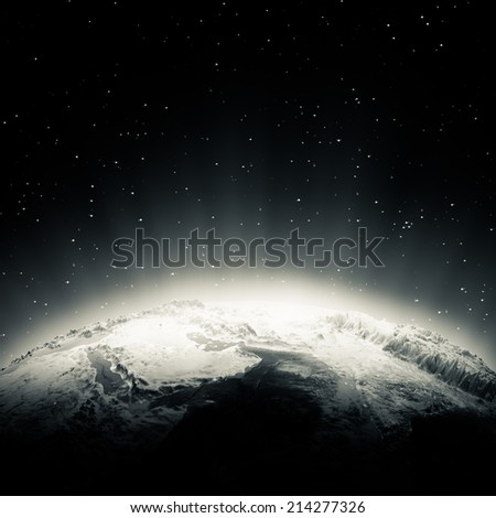 Middle East lights. Elements of this image furnished by NASA - stock photo