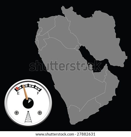 Middle East oil reserves - stock photo