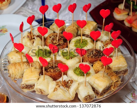 Middle Eastern sweets - stock photo