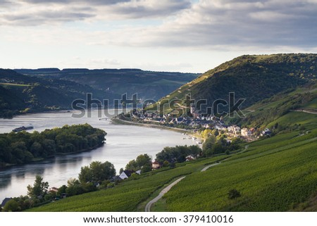 Middle Rhine Valley near Lorch, Hessen, Germany
